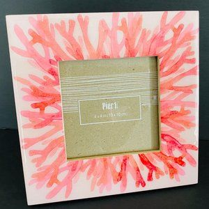 New Coral Design Picture Frame 4 x 4 in Pier 1